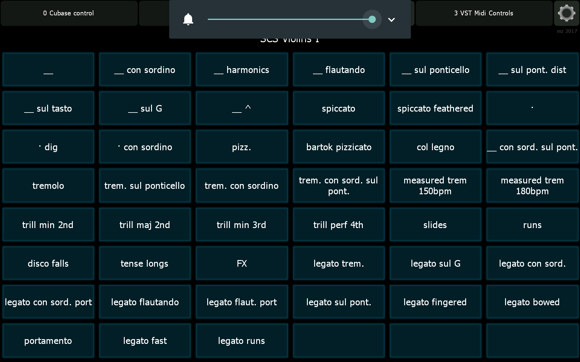 expression maps in cubase and lemur